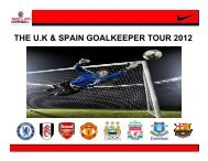 The U.K Goalkeepers Tour 2012 - Jason Kearton Goalkeeping