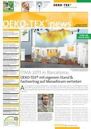 ITMA 2011 in Barcelona: - Oeko-Tex