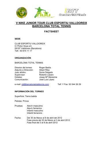 v nike junior tour club esportiu valldoreix barcelona total tennis - njt ...
