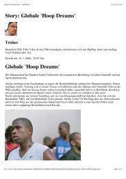 Globale Hoop Dreams - Sneaker Stories