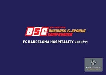 FC BARCELONA HOspitALity 2010/11 - 55PLUS-Magazin