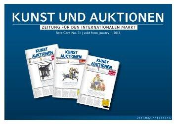 Mediakit KUNST UND AUKTIONEN 2012