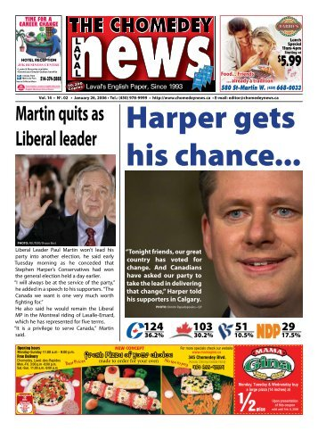 Martin quits as Liberal leader - Laval News