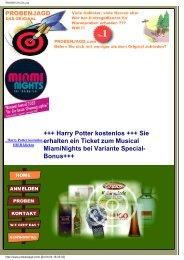 +++ Harry Potter kostenlos +++ Sie erhalten ein Ticket ... - Proben.biz