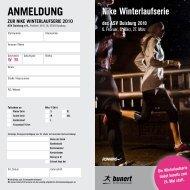 ANMELDUNG - Nike Winterlaufserie des ASV Duisburg