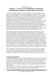 Klokker – Et case om commodification, autentisitet ... - Fagbokforlaget