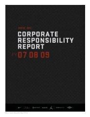 Nike, Inc. Corporate Responsibility Report FY07-09 - Fibre2fashion