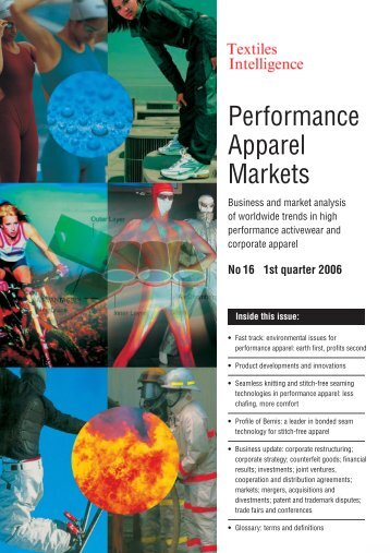 Performance Apparel Markets - Just-Style.com
