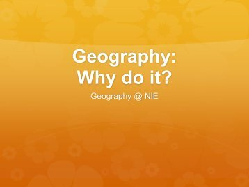 Top 10 reasons to study Geography - videoweb