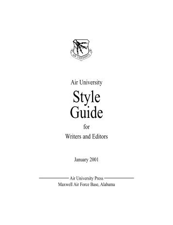 Air University Style Guide - PGCC eBook Collections