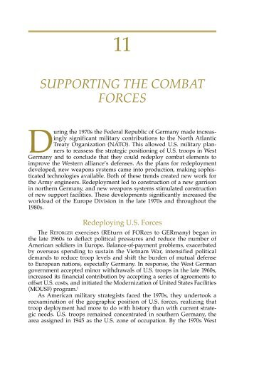 supporting the combat forces - Publications, US Army Corps of ...