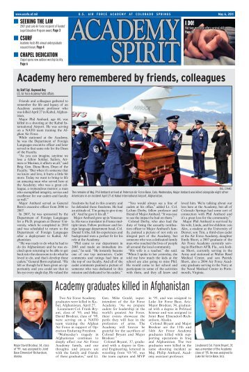Academy graduates killed in Afghanistan - United States Air Force ...
