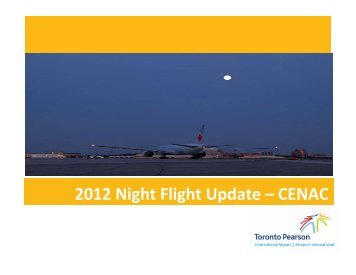 2012 Night Flight Update - Toronto Pearson International Airport