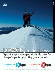 Europe's Specialty Sporting Goods Markets - Snews