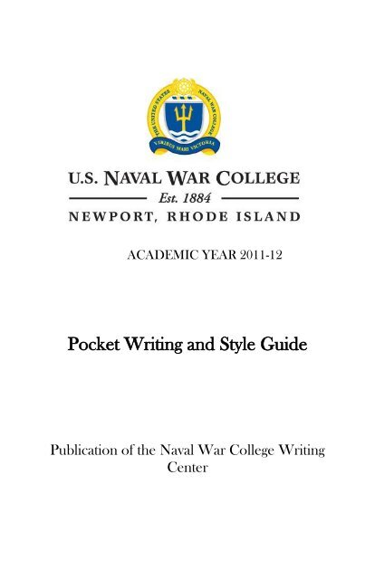 naval writing guide pdf
