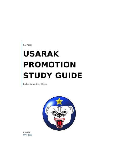 USARAK PROMOTION STUDY GUIDE Usarak U S Army