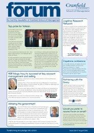 Issue 224 - August 2012 - Cranfield School of Management