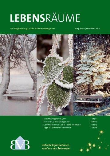 Download Lebensräume Winter 2012 - Bauverein Breisgau eG