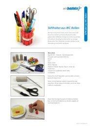 Stifthalter aus WC-Rollen - LifePortal