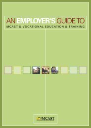 anemployer'sguideto - Malta College of Arts, Science & Technology