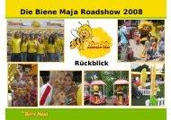 3 Die Biene Maja Roadshow 2008 - Standorte - 2sense event GmbH