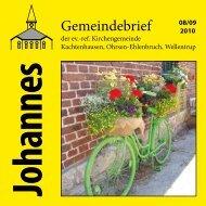 Ausgabe 08-09/2010 - ref. Johannesgemeinde Kachtenhausen