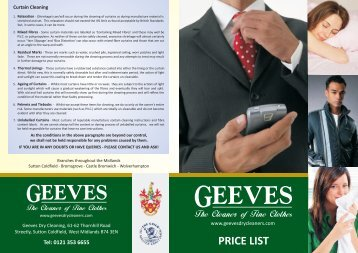 Price List FCTC.cdr - Geeves Dry Cleaners
