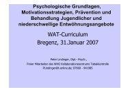Wat-Curriculum Bregenz, 31.januar 2007