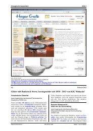 SG, Gläser mit Ranken & Stern, Luxusgeschirr seit - Pressglas ...