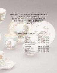 Porzellan, Fayence, Glas, Silber, Miniaturen - Galerie Fischer ...