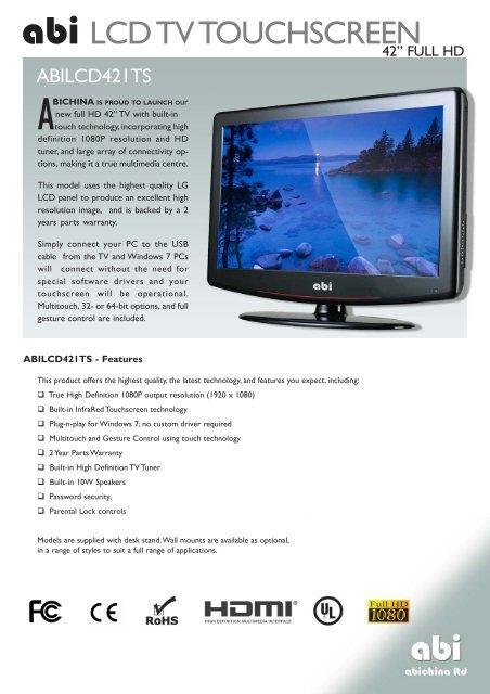abi LCD TV TOUCHSCREEN - ABIChina