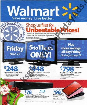 walmart Black Friday Ads Scan 2009 - Black Friday 2011
