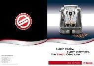 Super classy. Super automatic. The Saeco Odea Line.