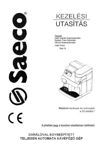 Saeco Vienna használati utasítás letöltés