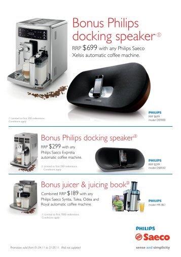Bonus Philips docking speaker - Philips Promotions