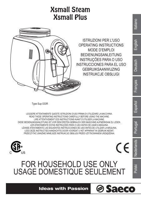 Saeco Xsmall Espresso Machine