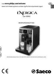 01-MUM Energica Lingue - Rev01 - WE.indd - Saeco Philips ...