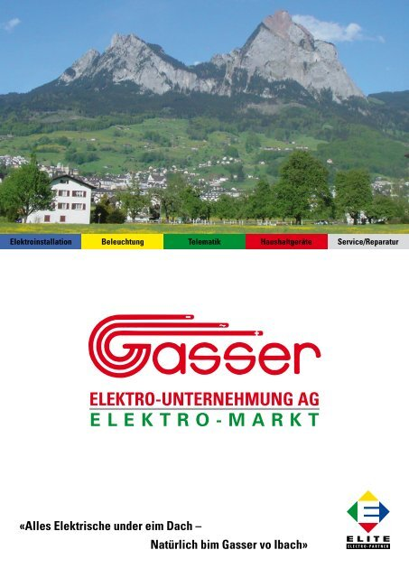 elektro-unternehmung ag elektro-markt - Gasser Elektro ...