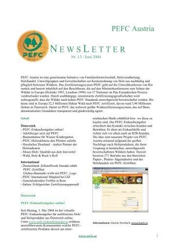 PEFC Austria Newsletter (deutsch), Nr. 13, Jun.