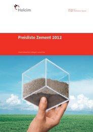 Preisliste Zement 2012 und allgemeine ... - Holcim