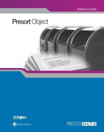 Presort Object - Melissa Data