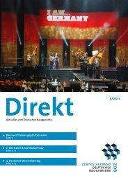 ZDB Direkt 5-2011.pdf - Zentralverband Deutsches Baugewerbe