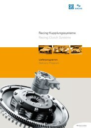 Racing-Kupplungssysteme Racing Clutch ... - ShonX motorsport