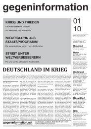 Texte und Termine - Gegenargumente Düsseldorf