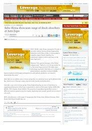 Sabo-Hema showcases range of shock absorbers at Auto Expo ...