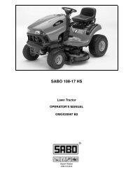 SABO 108-17 HS - Operator's Manual - John Deere