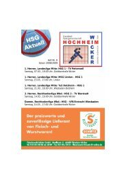 1. Herren, Landesliga Mitte: HSG 1 - TV Petterweil ... - TV Wicker