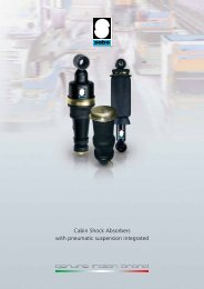 Sabo cabin shock absorbers