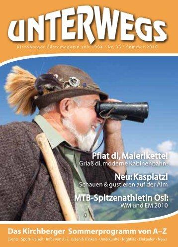 Das Kirchberger Sommerprogramm von A–Z - Brixental