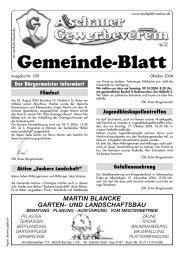 Gemeinde-Blatt Okt. .04 - Gewerbeverein Aschau